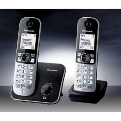 TELEFONO CORDLESS PANASONIC KX-TG6812JTB TWIN DUO NERO